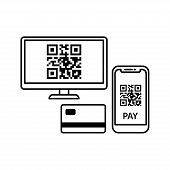 Nfc Payment Vector Outline. Contactless Payment Icon. Simple Element Illustration. Contactless Payme poster