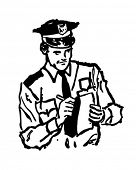 picture of bobbies  - Policeman Writing Ticket  - JPG