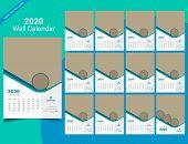 Calendar 2020 Templates In Vecto Design Illustration 10 poster