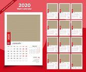 Calendar 2020 Templates In Vecto Design Illustration 12 poster