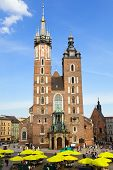 View at St. Mary's Gothic Church, famous landmark in Krakow, Poland. poster