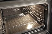 stock photo of convection  - The inside of a stove oven - JPG