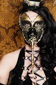 Постер, плакат: Таинственный маскарад сексуальная лисица с Венецианские маски