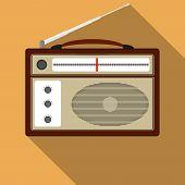 Retro Radio, Vintage Radio. Vector Illustration Retro Radio poster