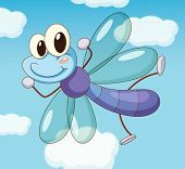 pic of mayfly  - Illustration of a dragon fly flying - JPG