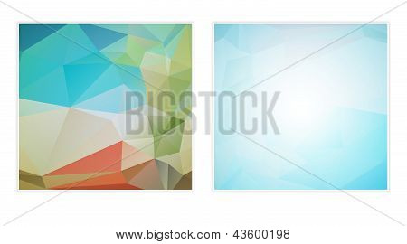 two abstract polygon backgrounds