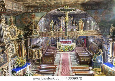 Interior Of St John The Baptist Church - Orawka, Poland.