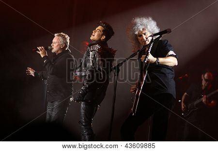 Queen With Adam Lambert Perform Onstage During Charity Concert In Kyiv