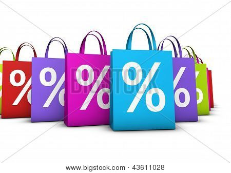 Shopping Bags Discount Concept