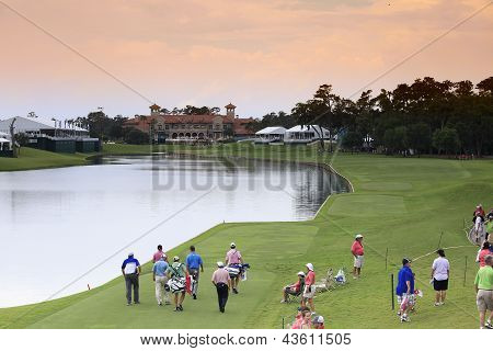 Hole 18  at The Players Championship 2012