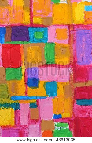 Colorful Acrylic Color Brush Strokes