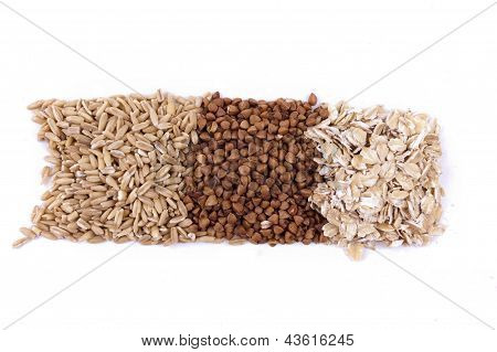 Isolated A Number Of Cereals