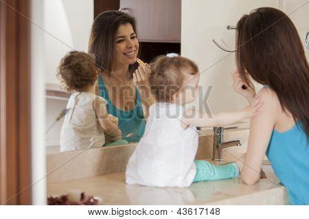 Mummy is getting ready