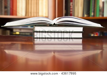 Books On A Wooden Table