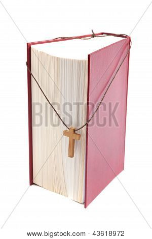 Bible Book Isolated On White Background.