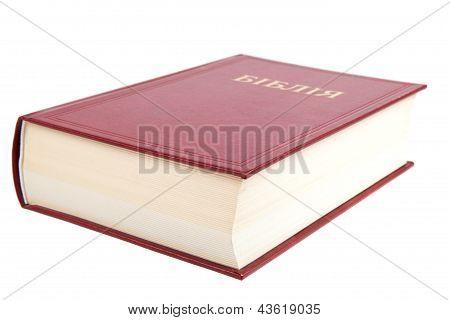 Ukrainian Bible Book Isolated On White Background.