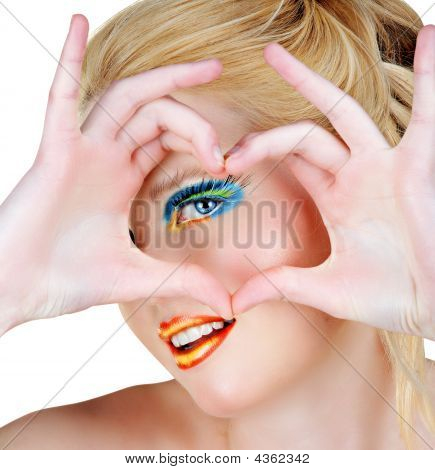 Blond Heart Symbol