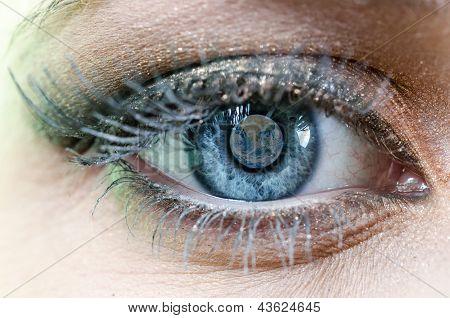 Earth Blue Eye