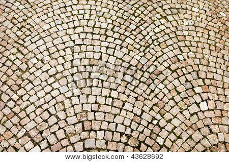 Cobblestone Pattern On Czech Street