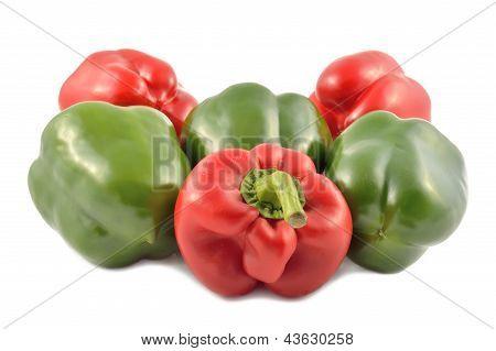 Bulgarian Pepper On White Background