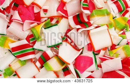 Close Up Of Crushed Ribbon Candy