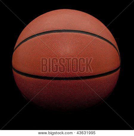 Isolated Basketball On Black Background