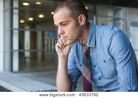 Frustrated Young, Handsome Businessman