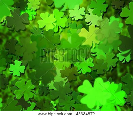 Green Clover Texture Background