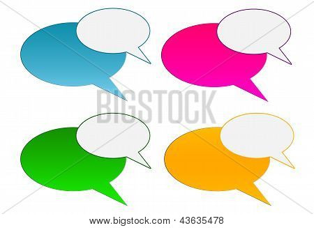 Messages or speech bubbles