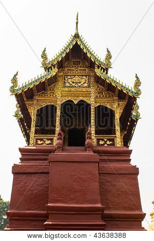 Ubosot In Wat Phra That Haripunchai