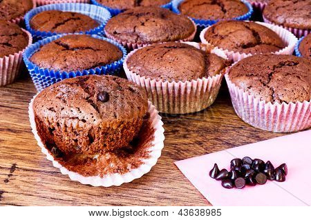 Chocolat Muffins With Chocolat Drops