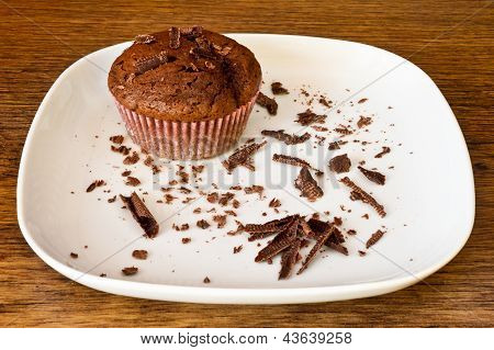 Chocolat Muffin With Chocolat Slices