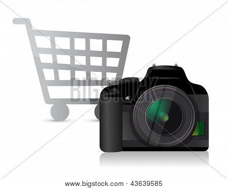 Camera Shopping Concept