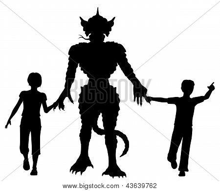 Niños de monstruo