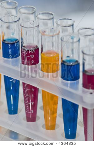 Group Of Test Tubes