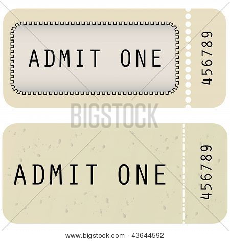 Vector Tickets In Different Styles