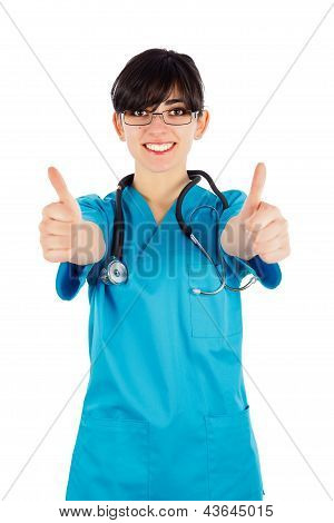 Doctor Showing Thumbsup