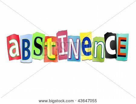 Abstinence Concept.