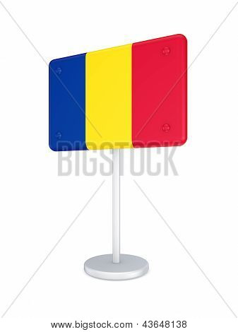 Bunner with flag of Romania.