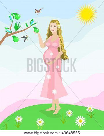 Pregnant woman vector