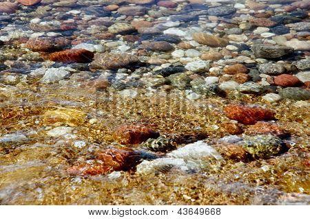 Pebble On Coast Of Baltic Sea