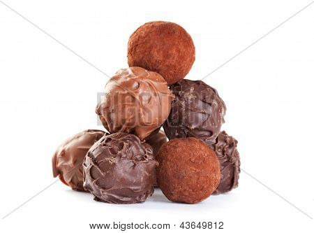 Chocolate Truffles Formed Like A Pyramid
