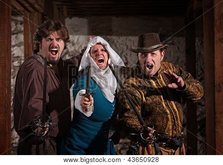Swashbucklers And Nun With Swords