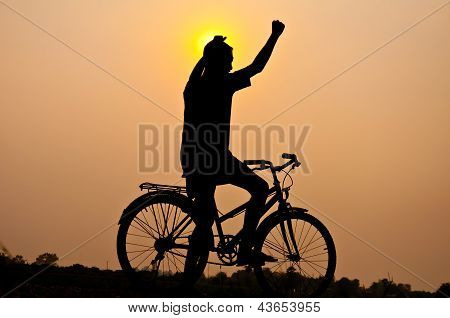 Victory With Bicycle