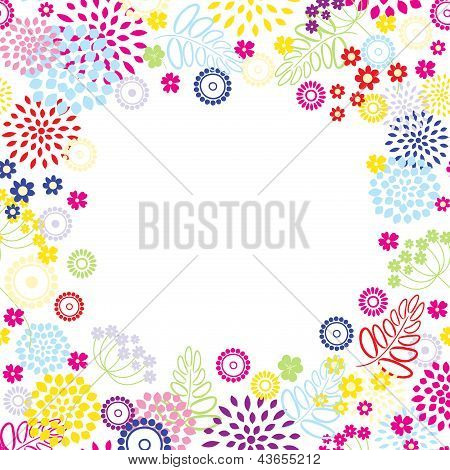 Bright Flowers Frame