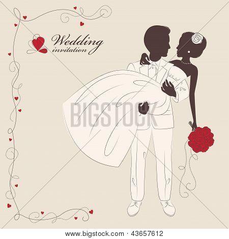 Wedding invitation .