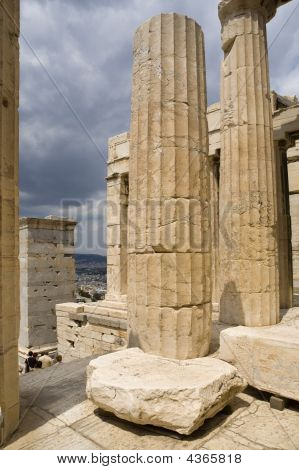 A Close-up Of Parthenon's Columns