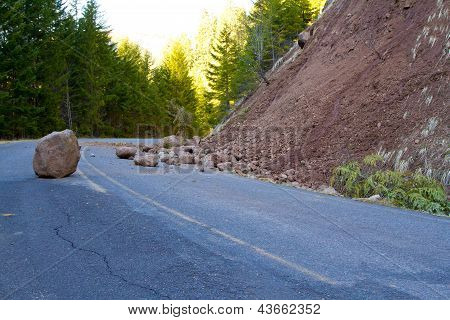 Landslide Blocked Road