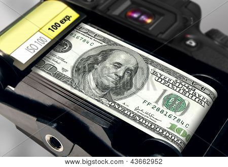 dollar bill as film