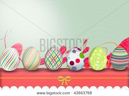 Pascua, hilera de huevos